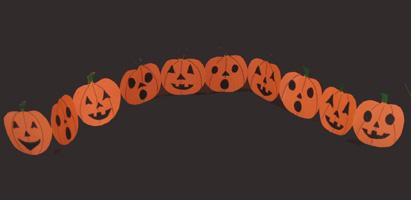 Výsledek obrázku pro paper pumpkin paper chain