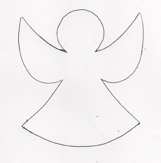 Angel template sew szablony pinterest for Angel decoration template